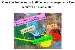 Invitation Exposition Palaiseau - Patrick Landon