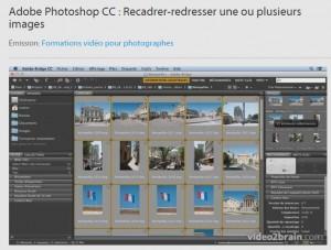 Recadrer-redresser une ou plusieurs images  Adobe Photoshop CC