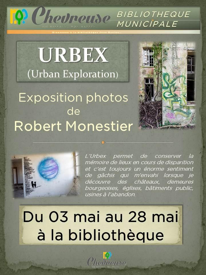 Affiche expo Urbex de Chevreuse mai 2016