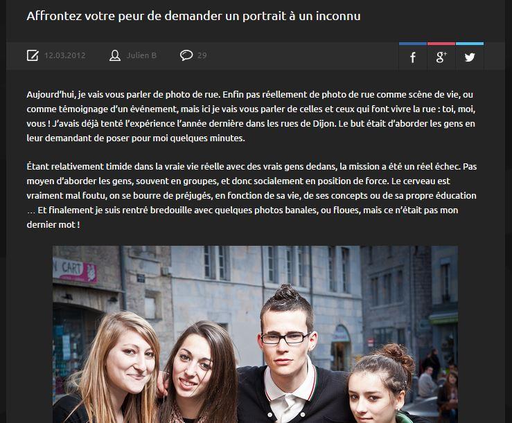 La photo de rue & Demander un portrait à un inconnu !