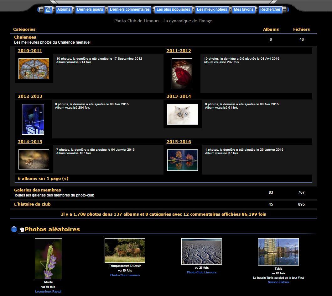 Galerie et Sites personnels des membres
